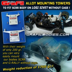 Alloy mounting towers to fit G-Rally body on 5ive-T